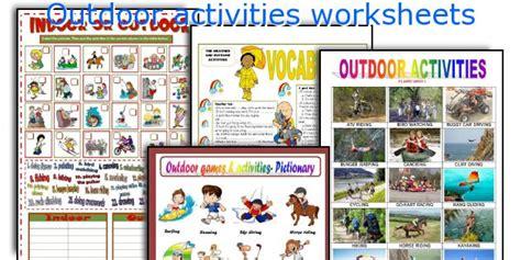 outdoor activities worksheets