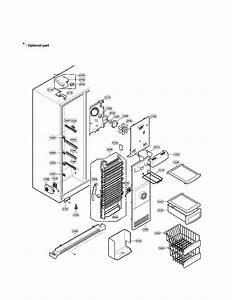 Freezer Compartment Diagram  U0026 Parts List For Model
