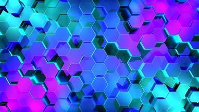 4k 3d Digital Hexagon Wallpapers Desktop Backgrounds