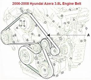 2006-2008 Hyundai Azera 3 8l Serpentine Belt Diagram