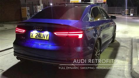 audi  saloon  facelift dynamic sweeping tail lights youtube