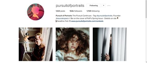 top  portrait feature accounts  instagram