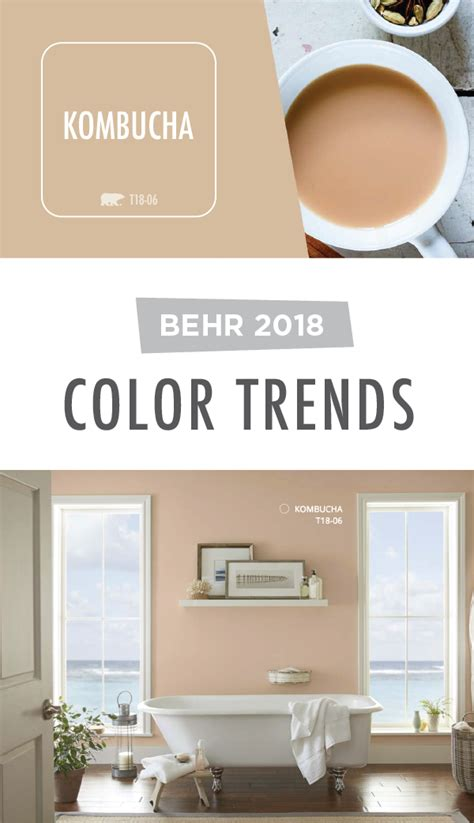the warm hue of kombucha by behr paint will bring new