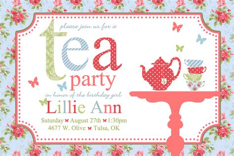 invitation party templates tea party invitations wording begin the invites