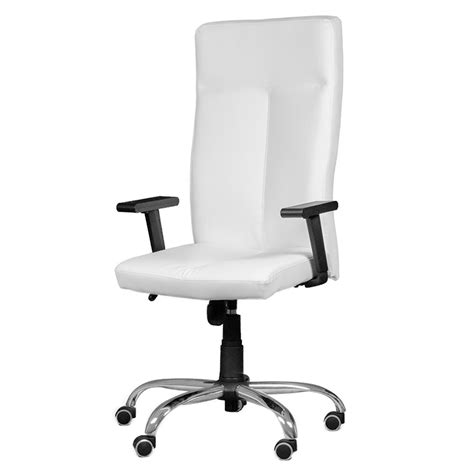 silla oficina polipiel blanca modelo palau