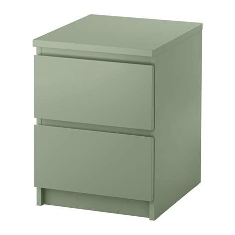 malm 2 drawer chest light green 15 3 4x21 5 8 quot ikea