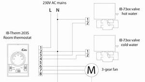 insbud sklep internetetowy ib therm 203s 230v With control buy fan coil thermostatdigital fan coil thermostatfan