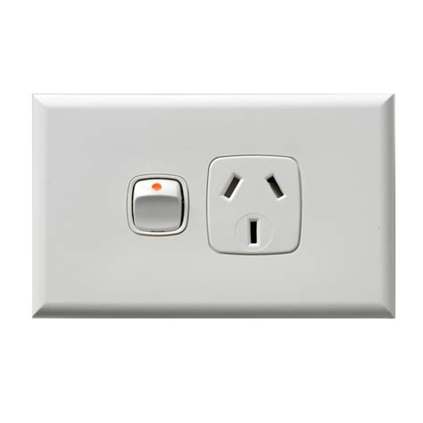 hpm white single power point with removable cover bunnings warehouse