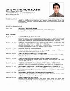 6 B Simple Curriculum Vitae Examples C New Looks Wellness