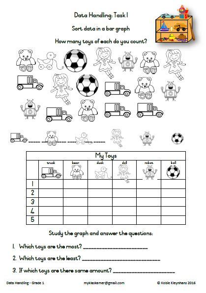data handling worksheets 187 my klaskamer deur kobie kleynhans