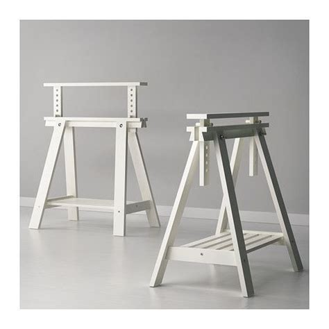 ikea finnvard white trestle  shelf ikea shelves