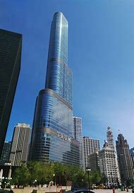 Trump Tower Chicago Skyline