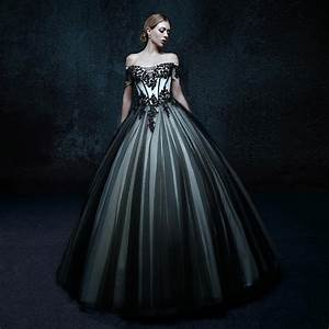 Online get cheap black gothic wedding dresses aliexpress for Black gothic wedding dress