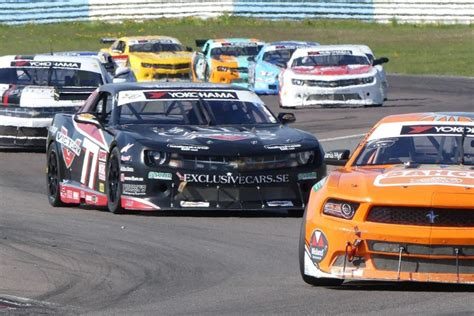 Strong Performance By V8 Thunder Cars At Mantorp Park