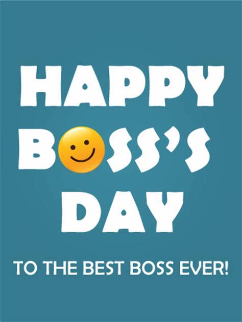 bosss day smiley card birthday greeting cards  davia
