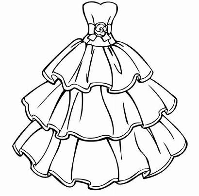 Coloring Pages Printable Educative Barbie Dresses Whitesbelfast