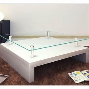 Table Salon Blanc Laqué : la boutique en ligne table basse de salon carr e verre blanc laqu ~ Teatrodelosmanantiales.com Idées de Décoration