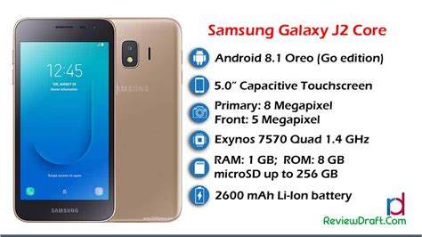 Samsung Galaxy J2 Core Price In Bangladesh, Specification