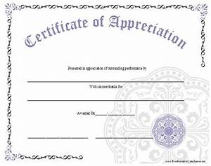 free certificate of appreciation template downloads - an ornate certificate of appreciation with a large