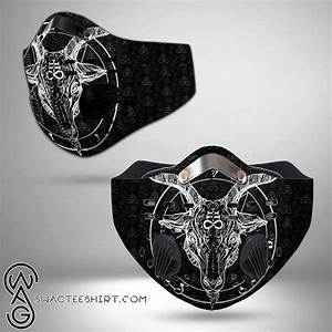 Satanic Symbols Filter Carbon Face Mask