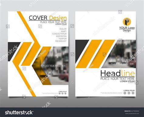 Yellow Brochure Design Vector Millions Vectors Yellow Technology Annual Report Brochure Flyer Design