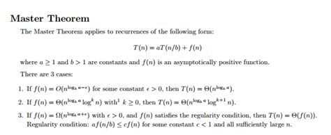 computer science how to apply master theorem to this