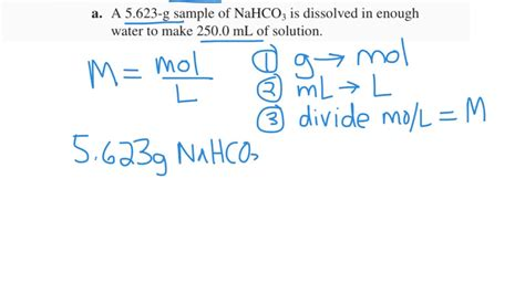 Calculating Molarity, Given G And Ml
