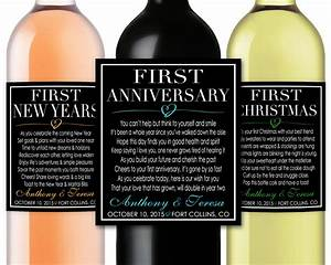 marriage firsts milestones poems wedding gift wine champagne With first wine bottle labels