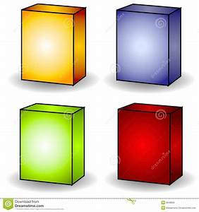 4 Blank Box Covers Clip Art Stock Illustration