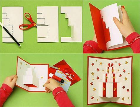 weihnachtskarten basteln anleitung pop up weihnachtskarten selbst gestalten und dekorieren