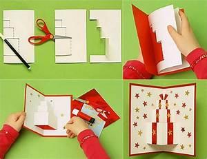 Pop Up Weihnachtskarten : pop up weihnachtskarten selbst gestalten und dekorieren ~ Frokenaadalensverden.com Haus und Dekorationen