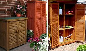 Meuble De Jardin Pas Cher : grande armoire de rangement exterieure en bois massif ~ Dailycaller-alerts.com Idées de Décoration