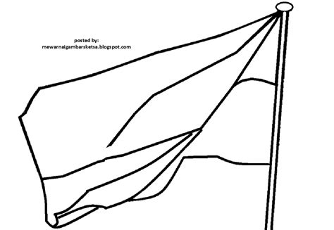 kumpulan sketsa gambar bendera untuk usia tk aliransket