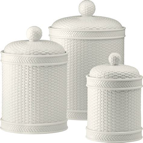 Martha Stewart Collection Whiteware Basketweave 3 Pc