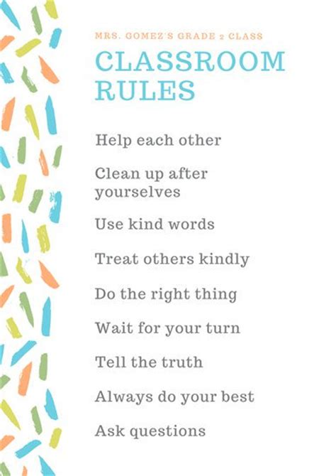 classroom rules template customize 332 classroom poster templates online canva