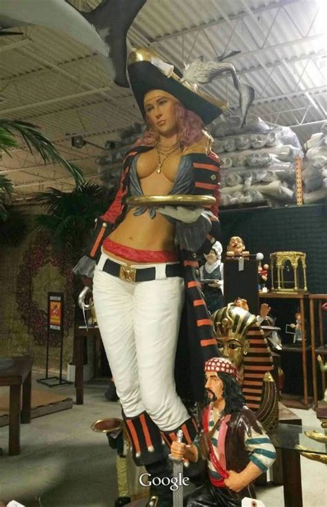 pirate girl life size statue figure hand finished  tall