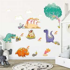 sticker dinosaures mignon stickers chambre enfants With chambre bébé design avec envoyer des fleurs a londres