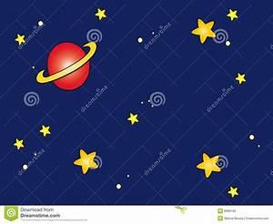 Space sky cartoon stock illustration. Illustration of ...