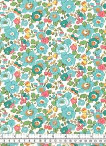 Liberty of London Tana Lawn Betsy D Turquoise Fabric One Yard