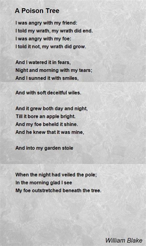 poison tree poem  william blake poem hunter