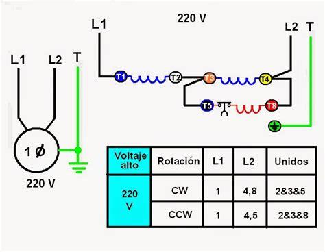 diagrama para invertir el giro de un motor trifasico a v inversion de giro motor trifasico