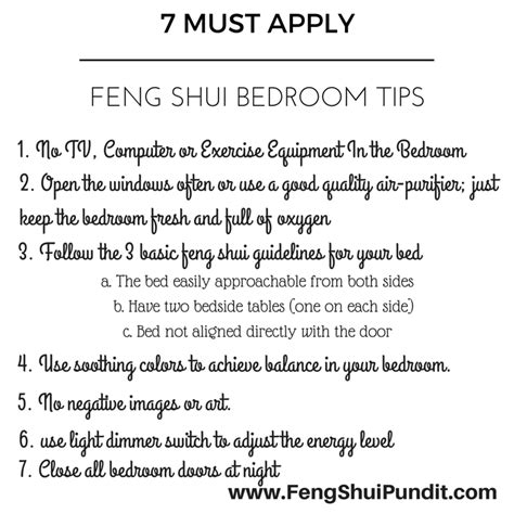 Feng Shui Tipps by Feng Shui Pundit 7 Fengshui Tips To Make Your Bedroom