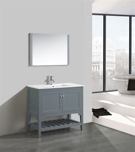 Modern Bathroom Mirrors For Sale by Aquamoon Rimini 39 Quot Matt Grey Modern Bathroom Vanity With