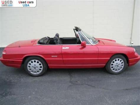 Alfa Romeo Sales In Usa by For Sale 1992 Passenger Car Alfa Romeo Spider Medinah