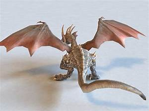 Wyvern Dragon 3d Model 3ds Max Files Free Download