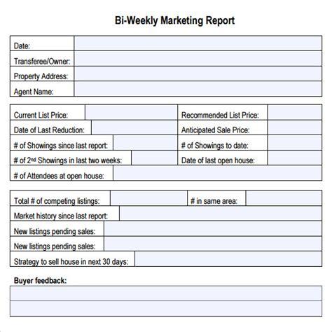 sample marketing report templates sample templates