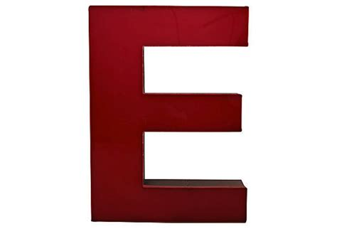 metal dining vintage large lucite metal letter e sign omero home