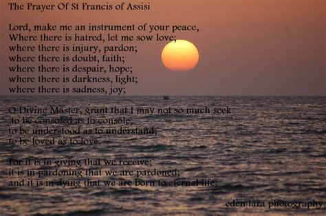 prayer of francis of assisi edenseverydayview the prayer of st francis