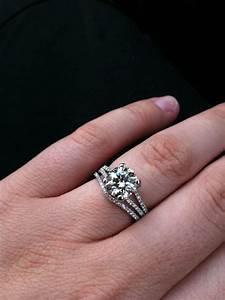 split shank engagement ringswhat band weddingbee With split shank engagement ring with wedding band
