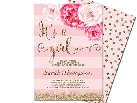 girl baby shower invitations 59 unique baby shower invitations free premium templates